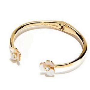 Kate Spade disco pansy cuff bracelet